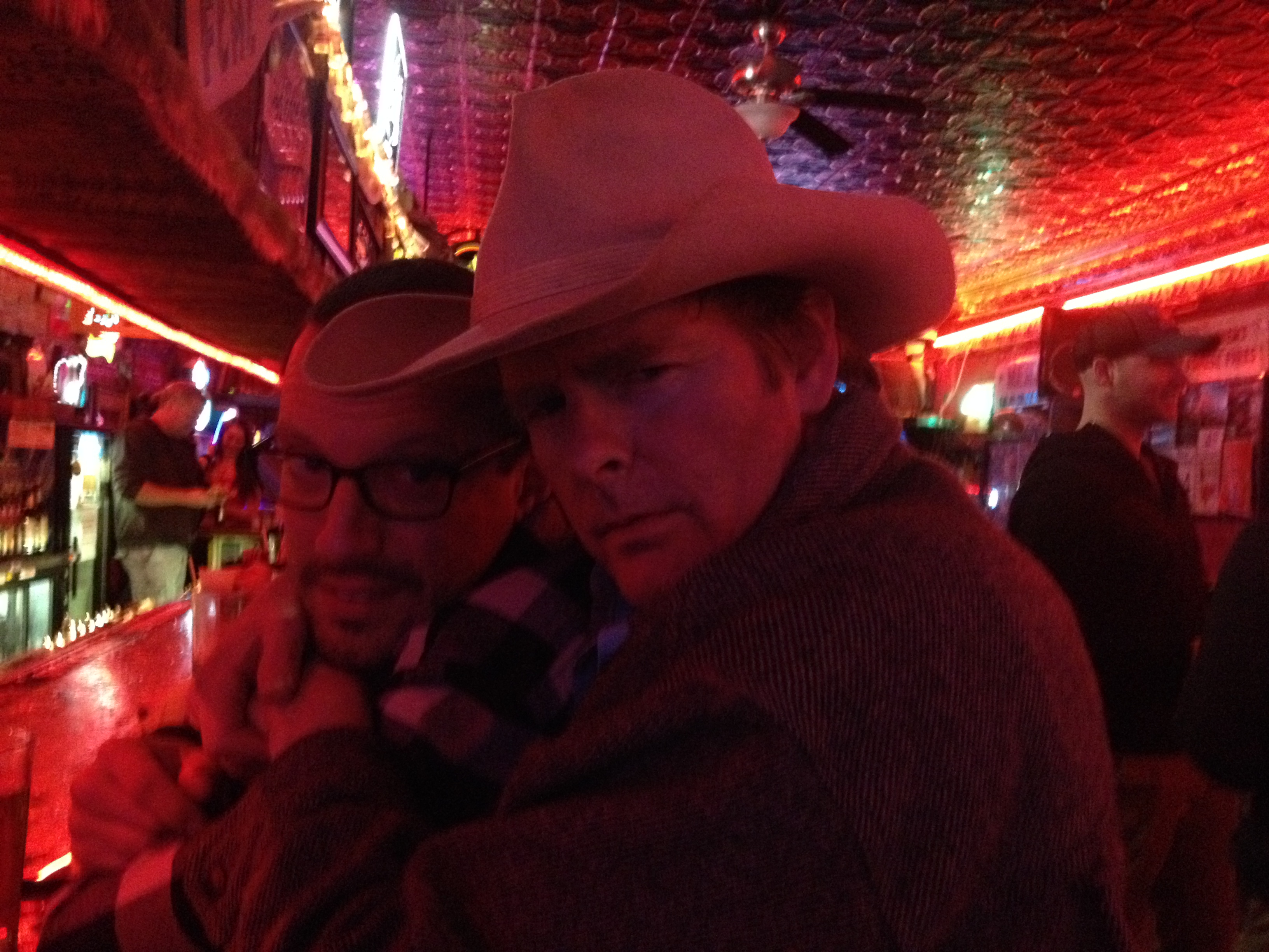 Kevin and Jason whooping it up in Red Lodge, MT
